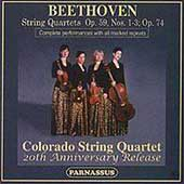 Beethoven: String Quartets Op 59 & 74 / Colorado Quartet