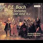 C.P.E. Bach: Flute Sonatas / Kuijken, Demeyere