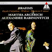 Brahms: Haydn Variations, etc / Argerich, Rabinovitch