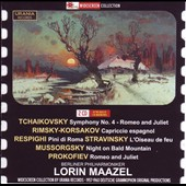 Tchaikovsky: Symphony No. 4 in F minor; Rimsky-Korsakov: Capriccio Espagnol; Respighi: Pines Rome