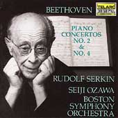 Beethoven: Piano Concertos 2 & 4 / Serkin, Ozawa, Boston SO