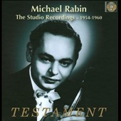 The Studio Recordings 1954-1960: Michael Rabin, violin