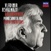 Rachmaninov: Piano Sonata No. 1; Chopin Variations / Vladimir Ashkenazy