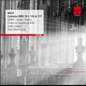 Bach: Cantatas BWV 161, 170 & 177 / Schlick, Jacobs, Rogers. Hans-Martin Linde