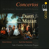 Music for clarinet, bassoon & orchestra - Danzi: Sinfonia; Mozart: Concertone / Dieter Klocker, clarinet; Karl-Otto Hartmann, bassoon