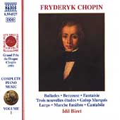Chopin: Complete Piano Music Vol 1 / Idil Biret