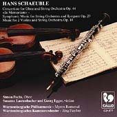 Schaeuble: Oboe Concertino, Music for 2 Violins and Strings