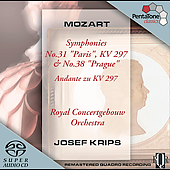 Mozart: Symphonies no 31 & 38 / Krips, Royal Concertgebouw