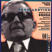 Shostakovich: Complete Songs Vol 4 / Evtodieva, et al
