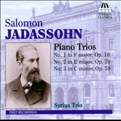 Salomon Jadassohn: Piano Trios Nos. 1-3