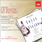 Mozart: The Marriage of Figaro / Giuseppe Taddei, Elisabeth Schwarzkopf, Anna Moffo, Fiorenza Cossotto, Eberhard Wachter. Giulini