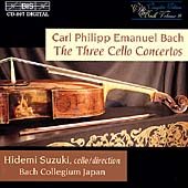 C.P.E. Bach: Cello Concertos / Suzuki, Bach Collegium Japan