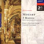 Mozart: 5 Masses / Cleobury, King's College Choir