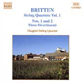 Britten: String Quartets Vol 1 / Maggini String Quartet