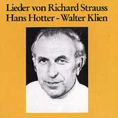 Lieder von Richard Strauss / Hans Hotter, Walter Klien