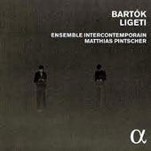 Bartók: Contrasts; Sonata for 2 Pianos & Percussion; Ligeti: The concertos for piano, cello & Violin / Hidéki Nagano, piano; Pierre Strauch, cello; Jeanne-Marie Conquer, violin