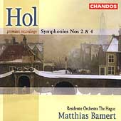 Hol: Symphony no 2 & 4 / Bamert, Hague Resindentie Orchestra