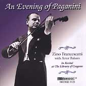 An Evening of Paganini / Zino Francescatti, Artur Balsam