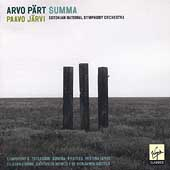 Pärt: Summa, etc / Paavo Järvi, Estonian National SO