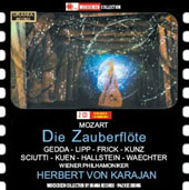Mozart: The Magic Flute / Gedda, Kunz, Lipp. Vienna PO, Karajan