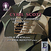 Scott: Complete Piano Music Vol 3 / De'Ath, Alexeyev