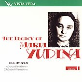 The Legacy of Maria Yudina Vol 1 - Beethoven