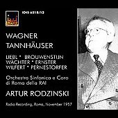 Wagner: Tannh&auml;user / Rodzinski, Liebl, et al