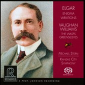Elgar: Enigma Variations; Vaughan Williams: The Wasps; Greensleeves / Kansas City SO