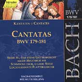 Edition Bachakademie Vol 54 - Cantatas BWV 179-181 / Rilling