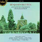 Britten: Winter Words, etc / Graham and Anthony Johnson