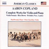 American Classics - Copland: Works for Violin and Piano
