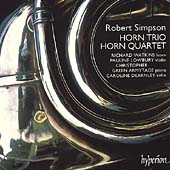 Simpson: Horn Trio, Horn Quartet / Watkins, Lowbury, et al