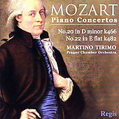Mozart: Piano Concertos no 20 & 22 / Tirimo, Prague CO