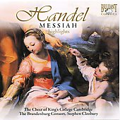 Handel: Messiah (Highlights) / Cleobury, Dawson, Summers, Ainsley, Miles, / King's College Choir Cambridge