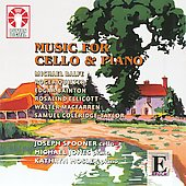 Epoch - Music for Cello & Piano - Balfe, Quilter, Bainton, Coleridge-Taylor, etc / Spooner, Jones, Mosley