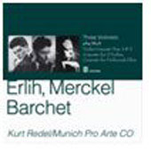 Three Violinists play Bach / Davy Erlich, Henri Merckel, Reinhold Barchet