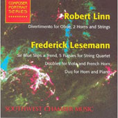 Robert Linn: Divertimento for Oboe, 2 Horns and Strings; Frederick Lesemann: Sir Blue Slips a Trend