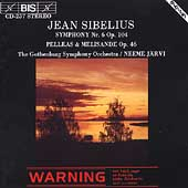 Sibelius: Symphony no 6, etc / J&#228;rvi, Gothenburg Symphony