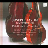 Haydn: Divertimenti for Baryton Trio / Balestracci, Tampieri, Cocset