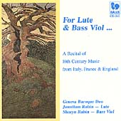 For Lute & Bass Viol / Geneva Baroque Duo