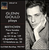 Glenn Gould plays Beethoven Piano Sonatas op. 49 no. 1, op. 101 & op. 109