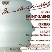 Benno Moiseiwitsch plays Saint-Saëns, Grieg and Liszt
