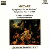 Mozart: Symphonies nos 34, 35 & 39 / Barry Wordsworth