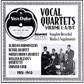 Various Artists: Vocal Quartets, Vol. 1: A/B/C (1928-1940)