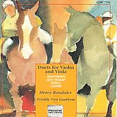 Halvorsen, Rolla, Gliere: Duets for Violin and Viola