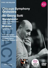 Mendelssohn: A Midsummer Night's Dream Overture; Brahms: Symphony No. 1 / Georg Solti, Chicago SO (rec. 1971 at the Edinburgh Festival) [DVD]