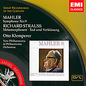 Mahler: Symphony no 9;  Strauss / Klemperer