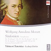 Reference - Mozart: Symphonies, Divertimentos, etc / G&#252;ttler