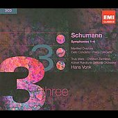 Triples - Schumann: Symphonies 1-4, Piano Concerto, etc / Vonk, Zacharias, Mork, et al