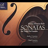 Bach: Sonatas for Viola da Gamba / Audrey Cienniwa, Paul Cienniwa
